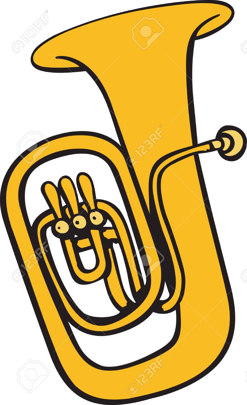 This tuba design is perfect for your band student. - 45282394
