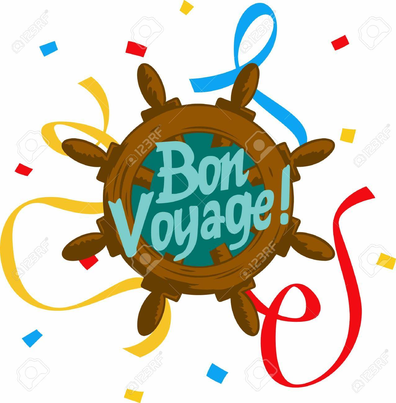 ave happy travels with a bon voyage saying royalty free cliparts rh 123rf com Bon Voyage Funny Bon Voyage Wishes