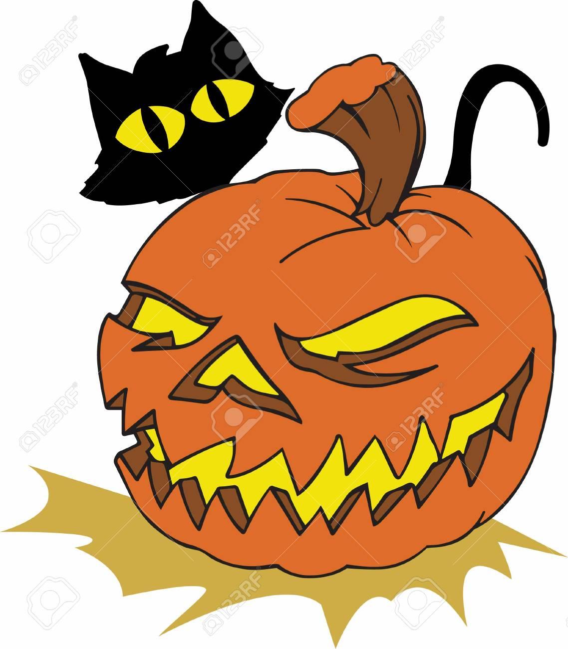 Zucca Halloween Gatto.Una Zucca Di Gatto Nero E La Decorazione Perfetta Per Halloween