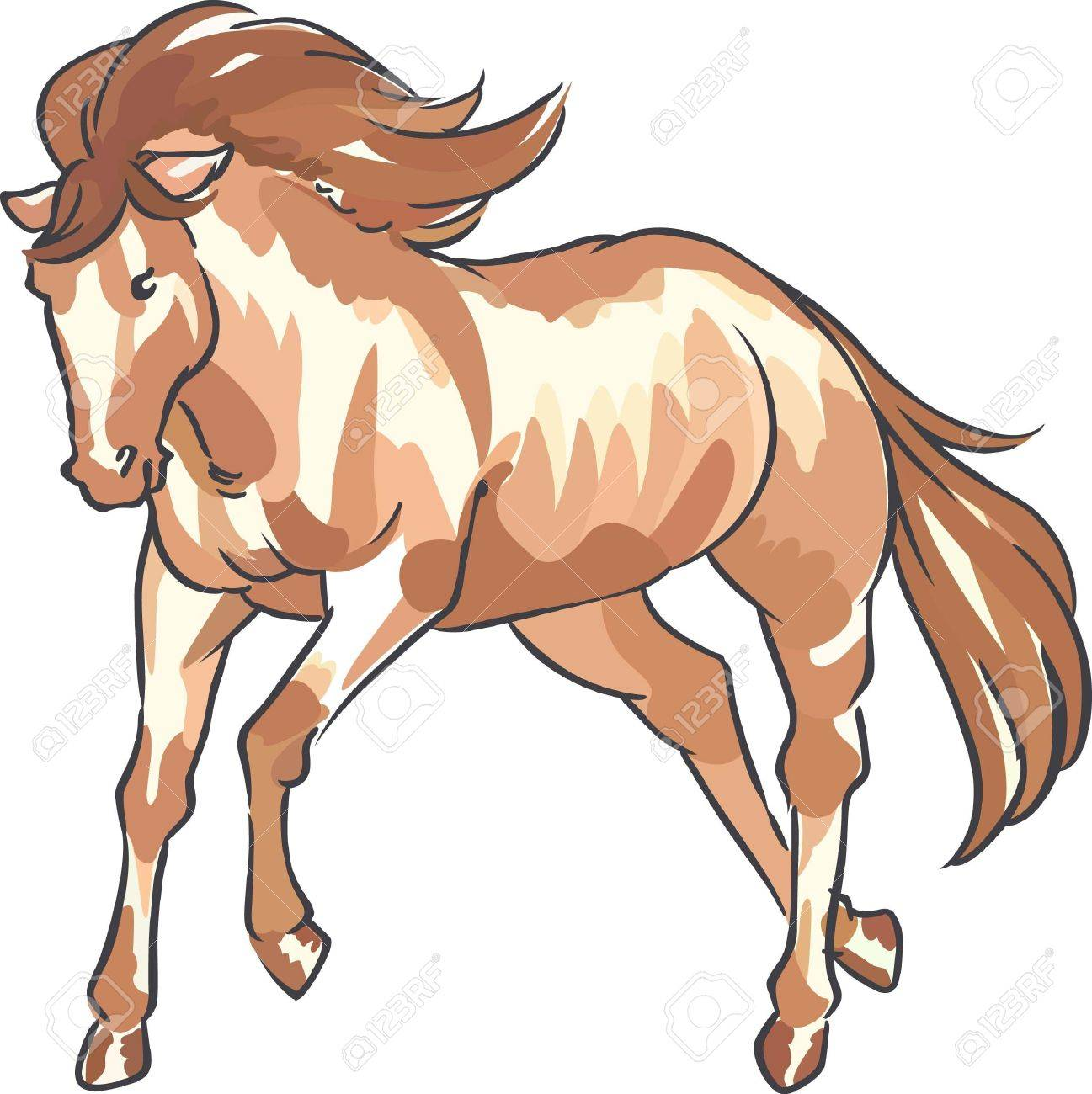 Ein Schönes Pferd Ist Ein Klassisches Dekor West Lizenzfrei Nutzbare ...