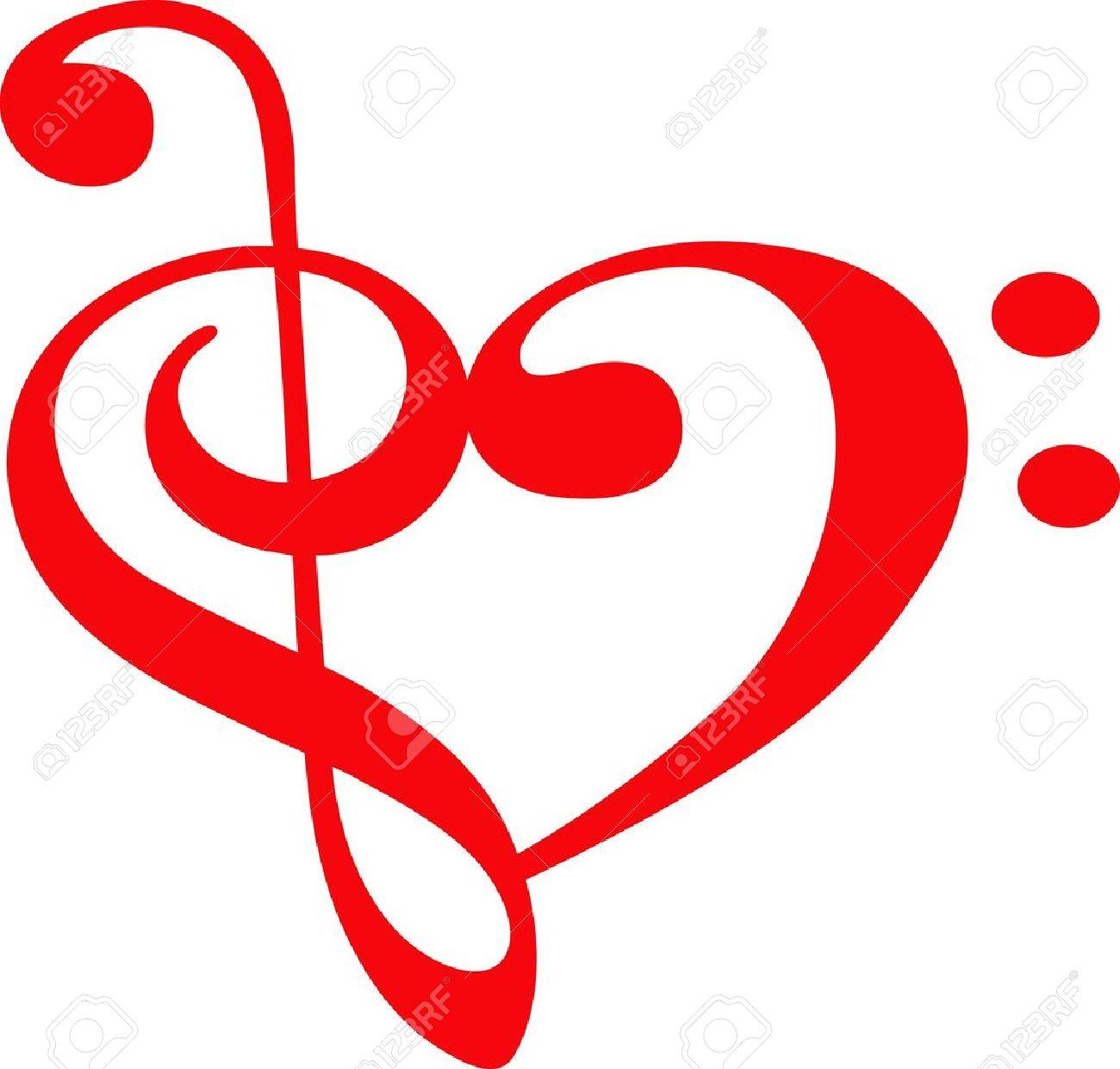 Music lovers will like this special heart for a valentine. - 45936961