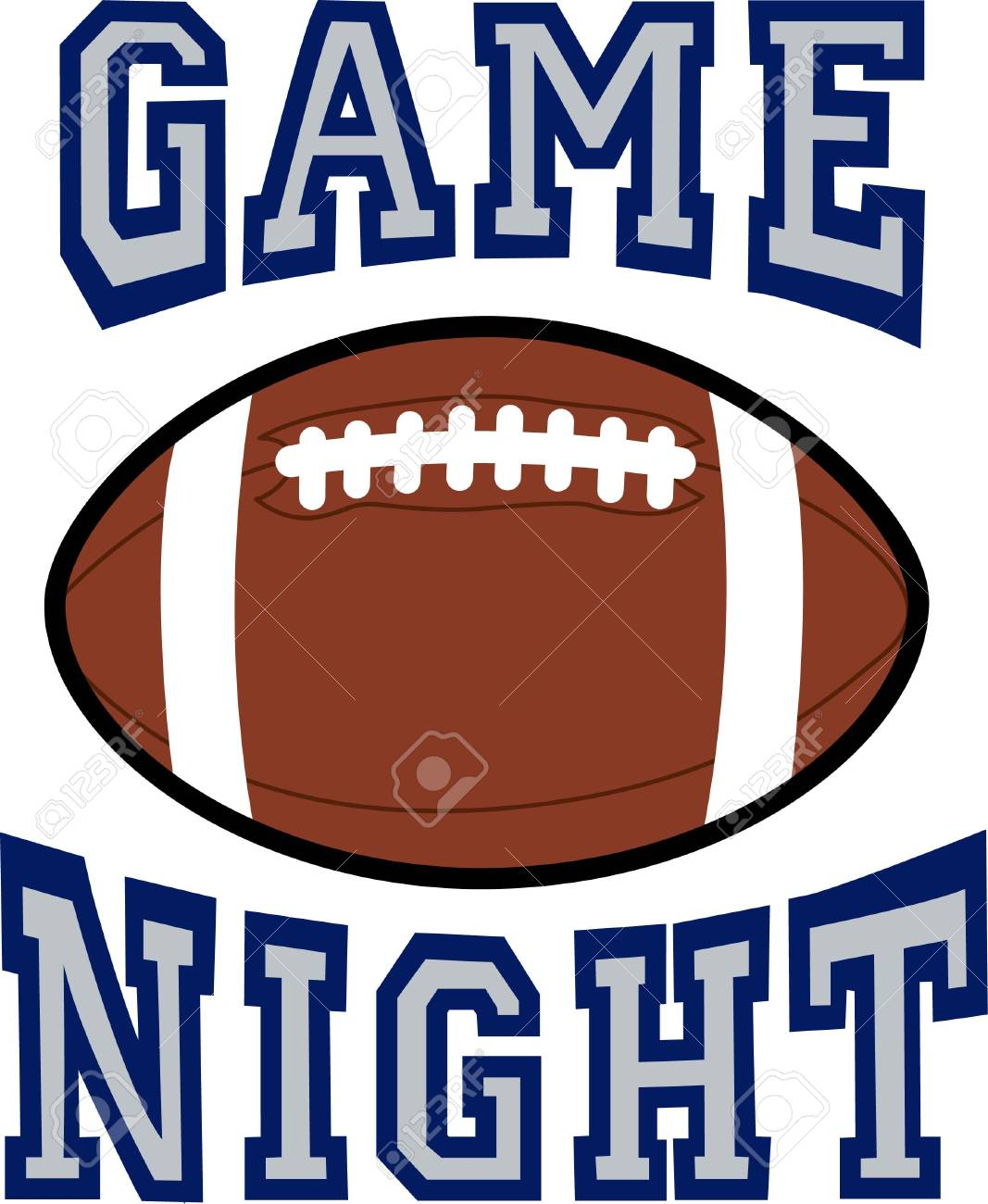 Sports Fans Will Enjoy A Football For Game Day Royalty Free Cliparts Vectors And Stock Illustration Image 45981323