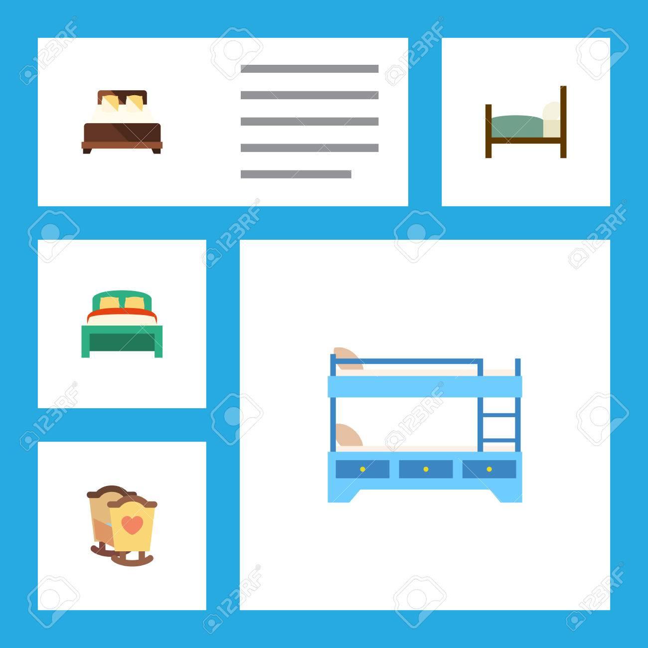 Conjunto Plano De Cuna, Muebles, Literas Y Otros Objetos Vectoriales ...