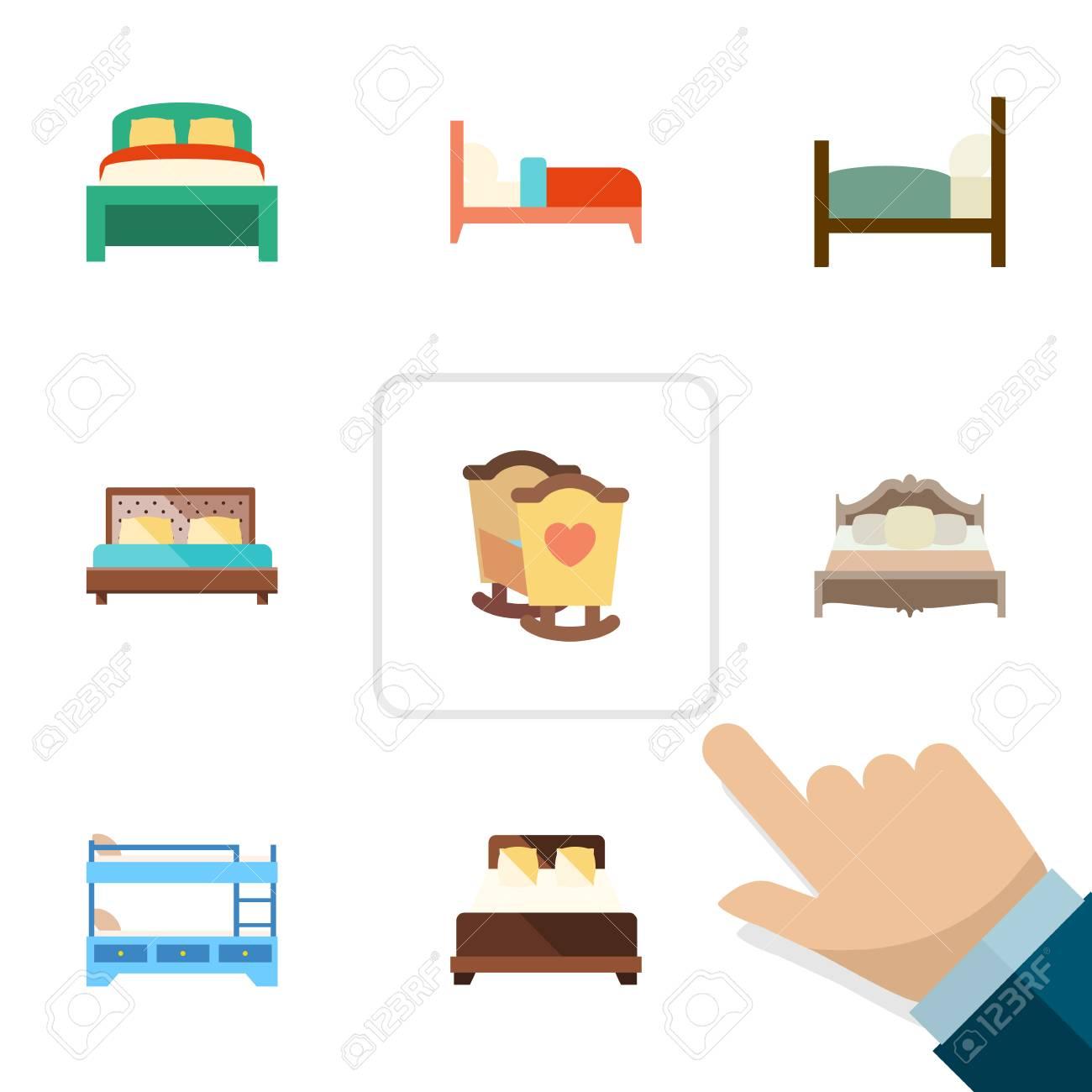 Plano Conjunto De Rodamientos, Cuna, Muebles Y Otros Objetos ...