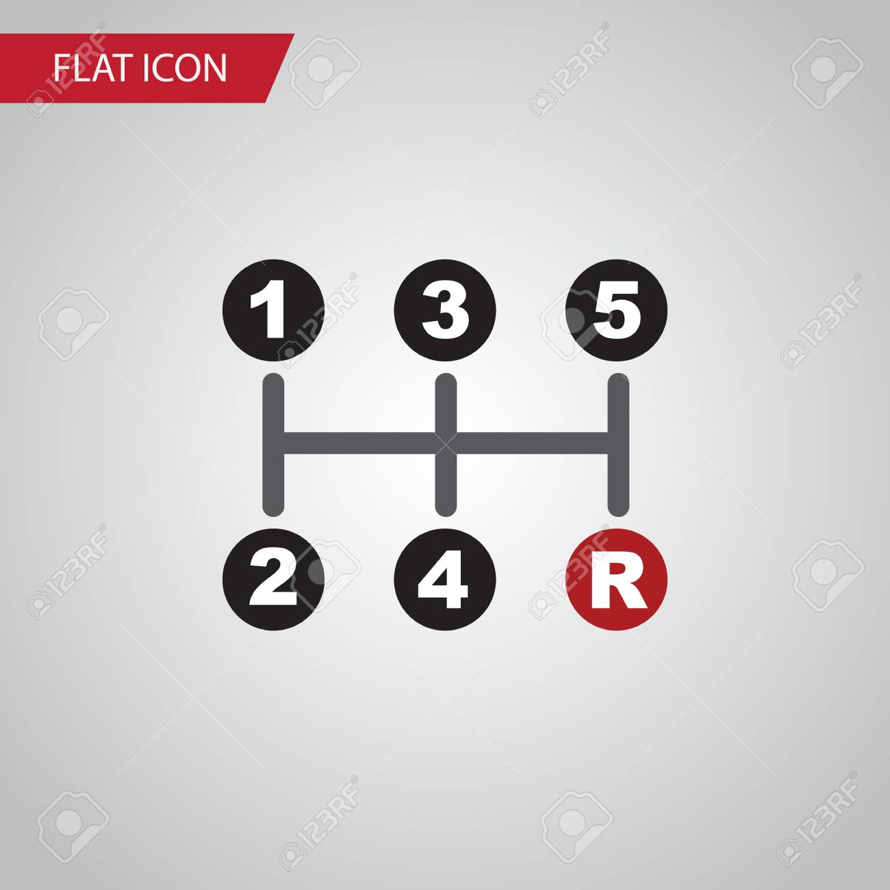 Isolated Manual Transmission Flat Icon Carrying Vector Element Royalty Free Cliparts Vectors And Stock Illustration Image 81623726