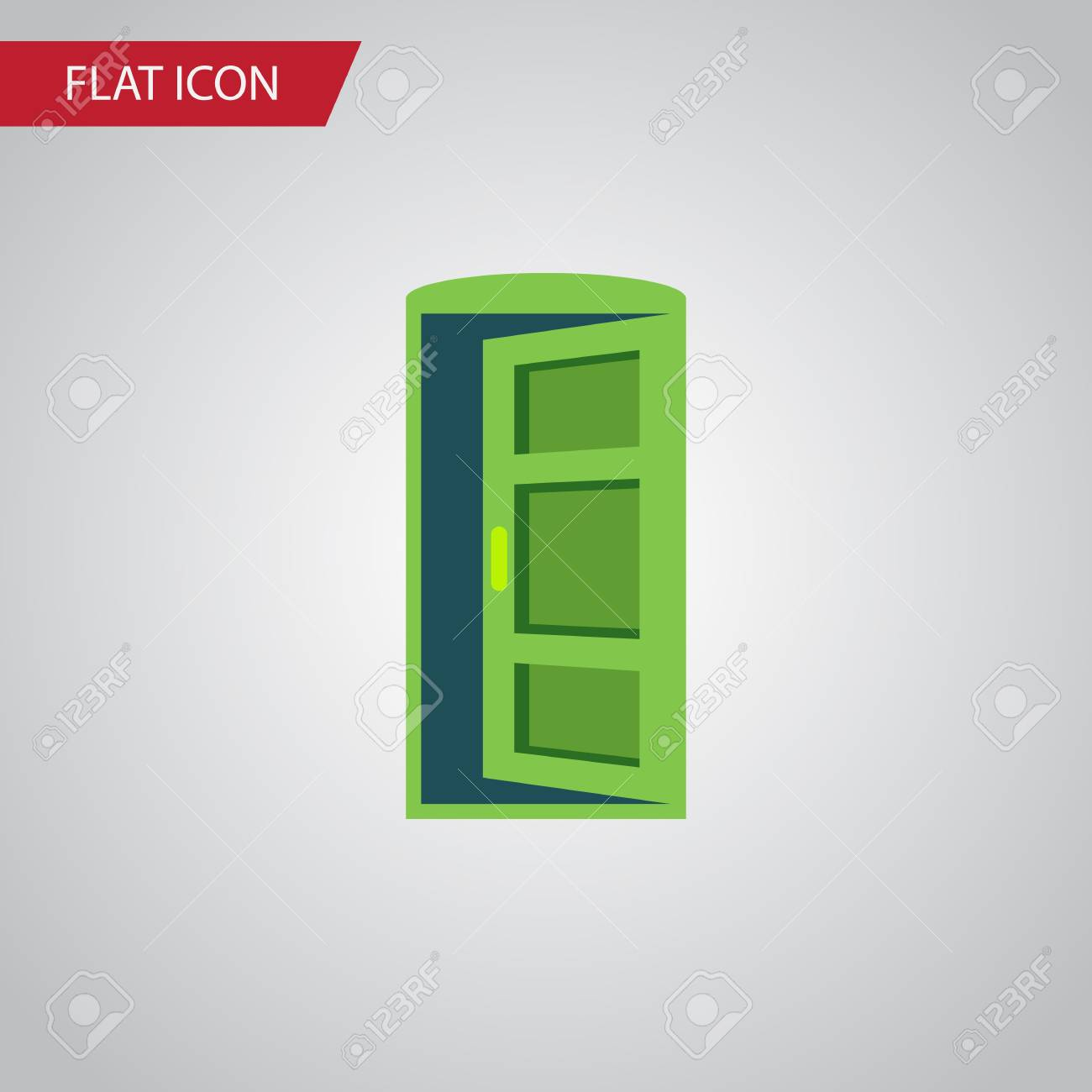 Isolated Approach Flat Icon. Frame Vector Element Can Be Used ...
