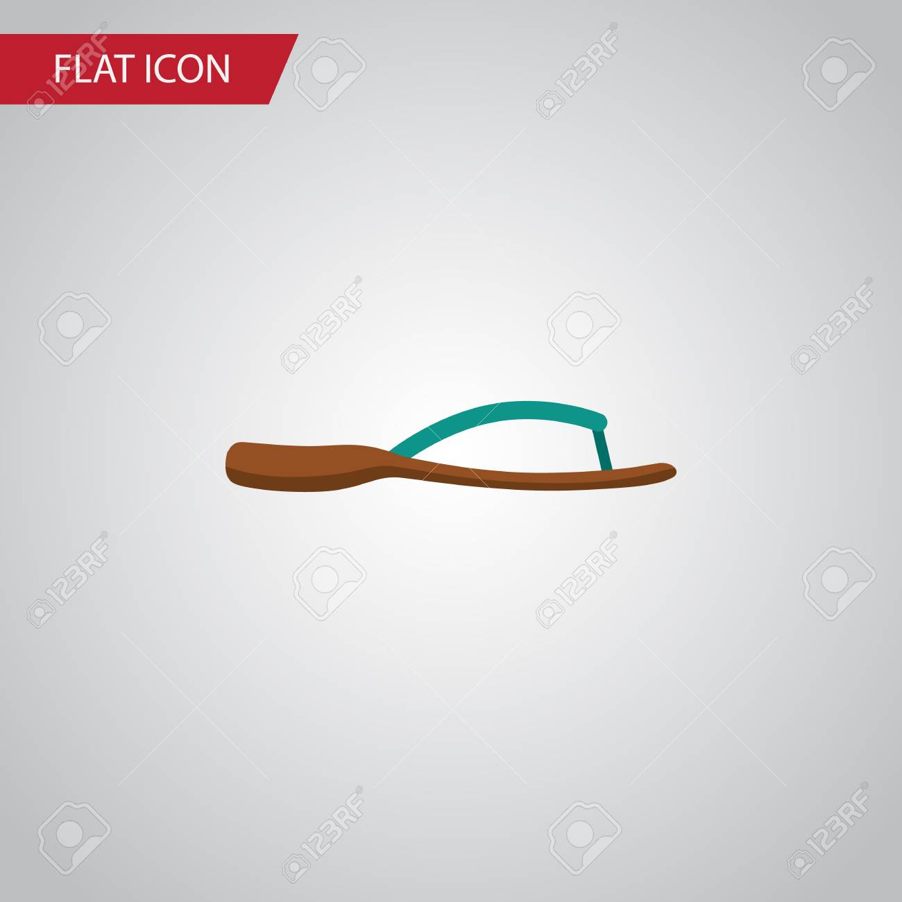 2d542b102 Isolated Flip Flop Flat Icon. Beach Sandal Vector Element Can Be Used For  Flip