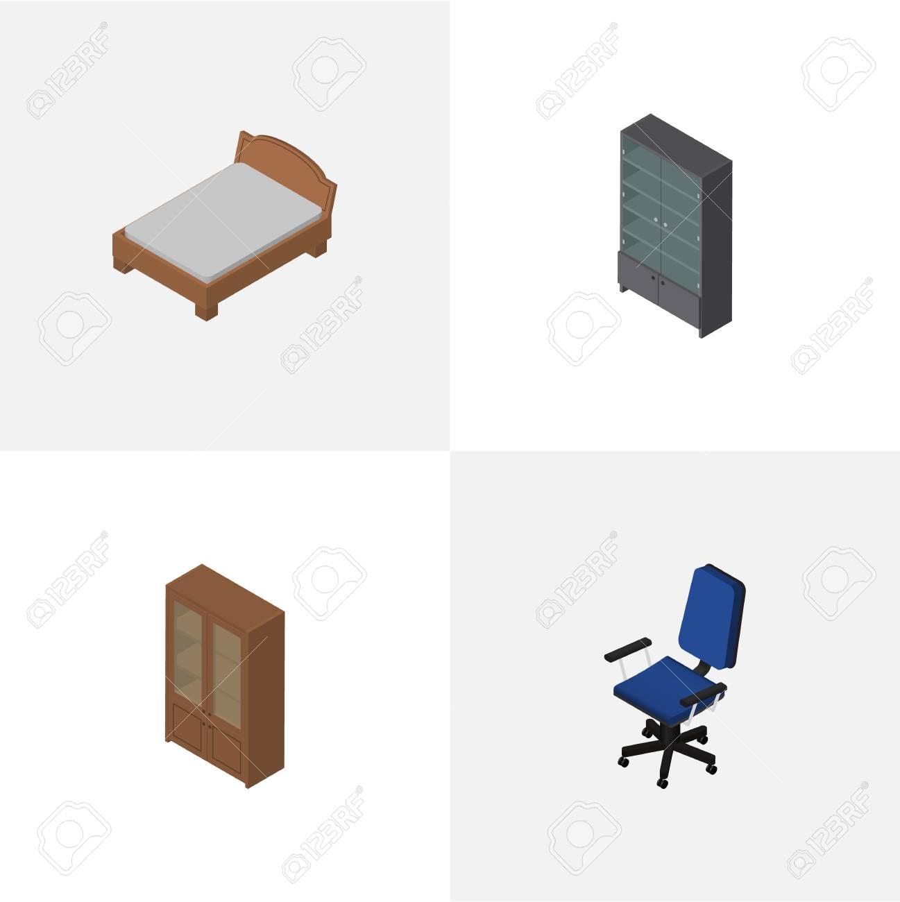 Cool Anrichten Möbel Beste Wahl Isometrischer Möbel-satz Büro, Anrichten, Bettgestell Und Andere