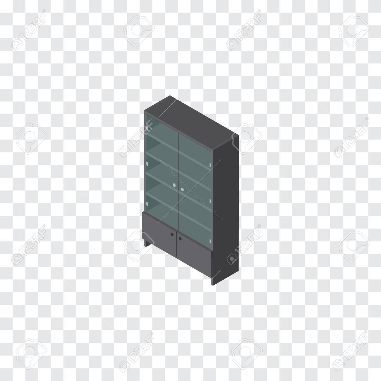 Lade Voor Kast.Geisoleerde Lade Isometrisch Het Vectorelement Van Het Buffet Kan