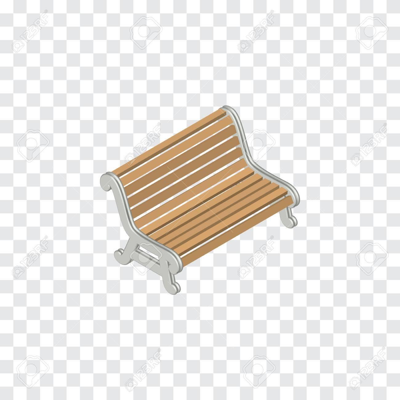 Design Bank Gebruikt.Zetel Vectorelement Kan Worden Gebruikt Voor Bench Seat Park Design Concept Geisoleerde Isometrische Bank