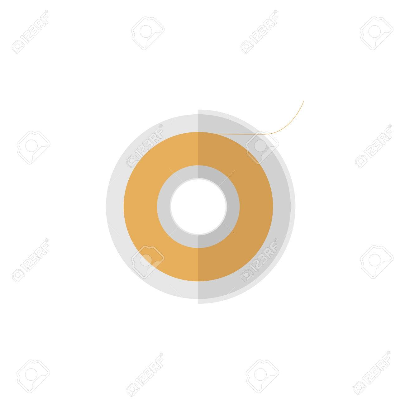 Isolated Teflon Tape Flat Icon  Roll Vector Element Can Be Used