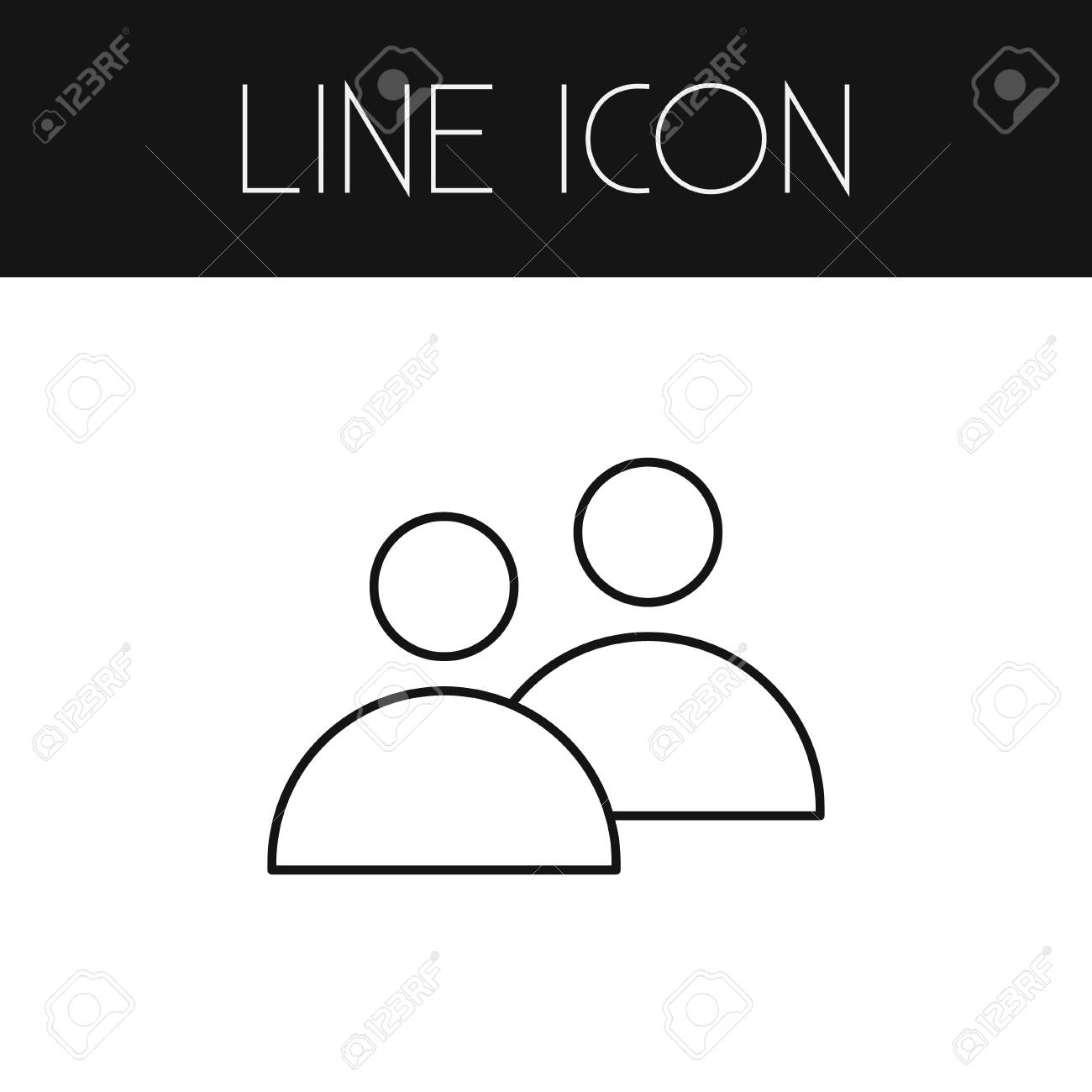 Isolated Team Outline  Group Vector Element Can Be Used For Team,