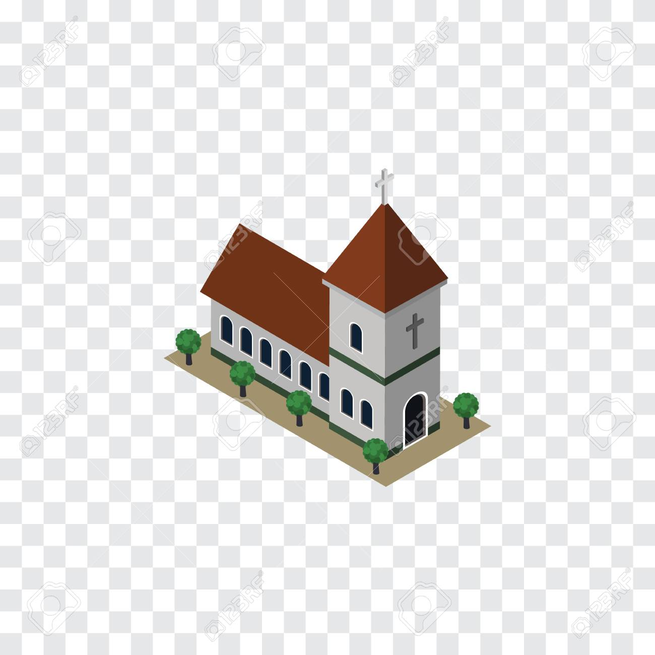 Isolated Church Isometric Chapel Vector Element Can Be Used Royalty Free Cliparts Vectors And Stock Illustration Image 83591170
