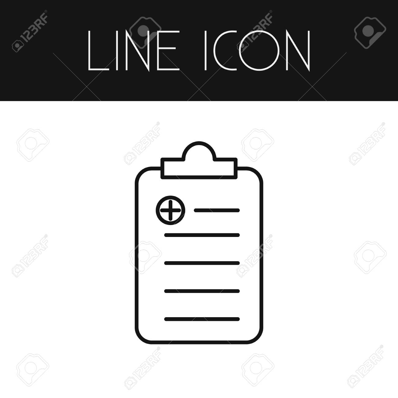 isolated receipt outline checklist vector element can be used