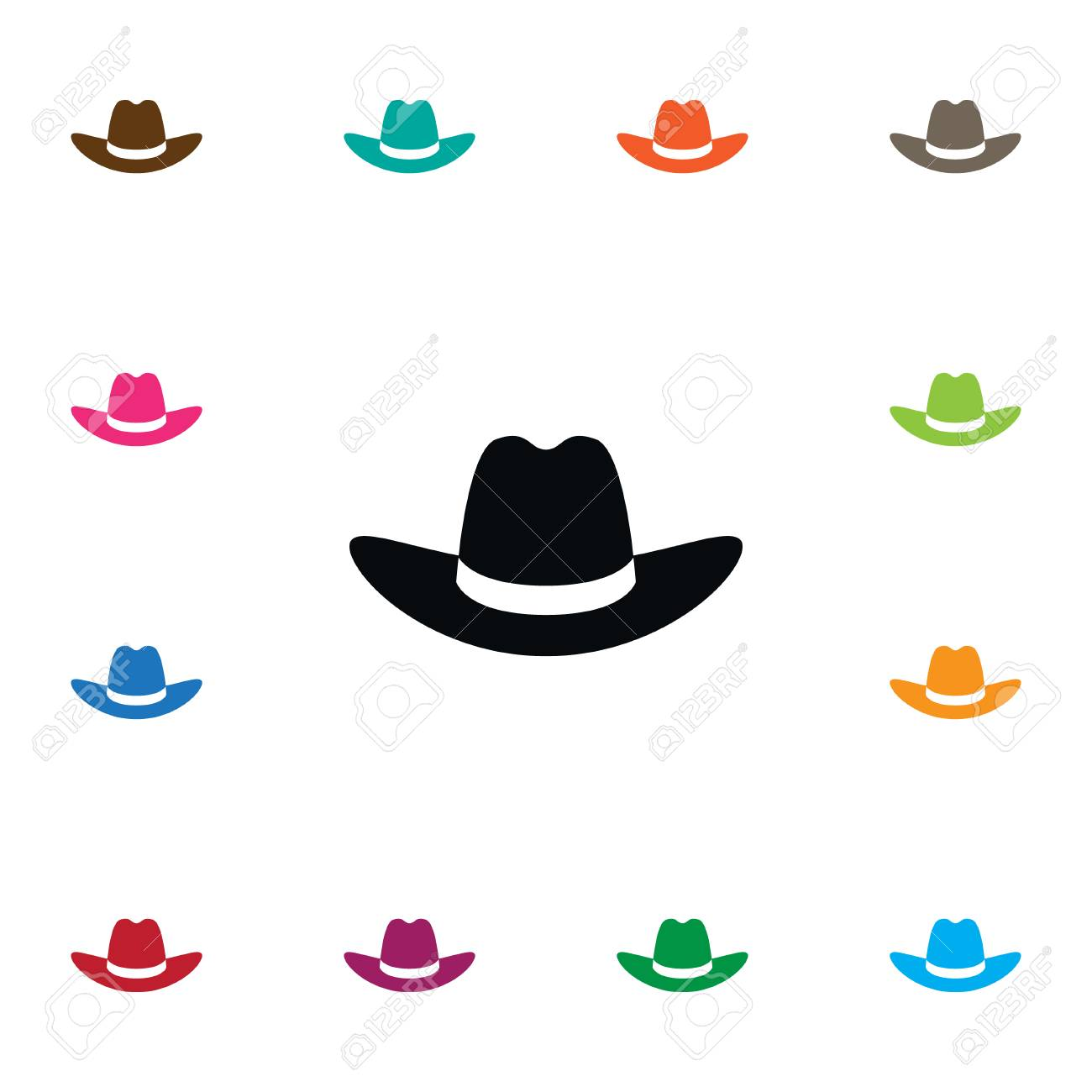 4e02bb3d7b1 Cowboy Vector Element Can Be Used For Cap