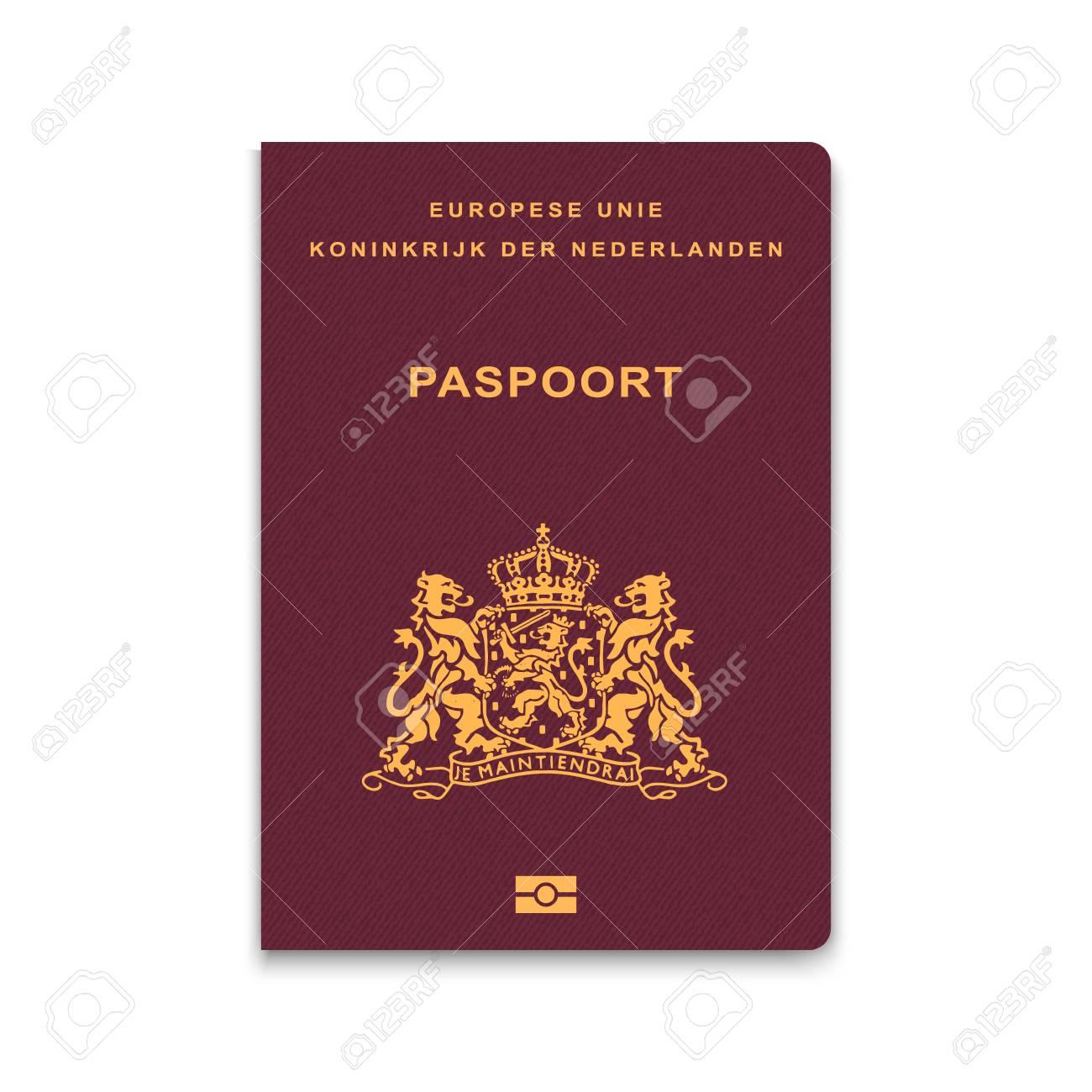 Passport of Netherlands. Vector illustration - 97221737