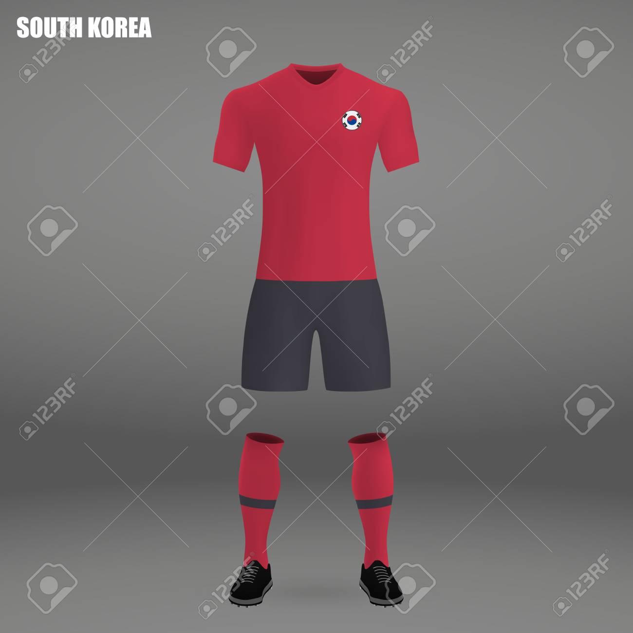 b85f0090e Football Kit Of South Korea 2018