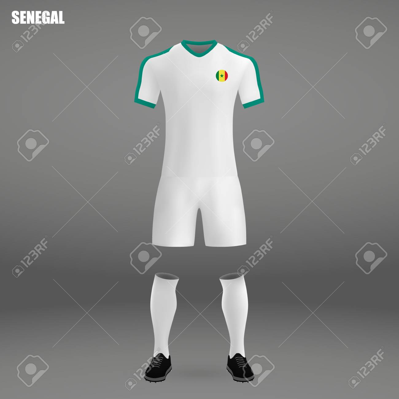 online store ce670 3f579 football kit of Senegal 2018, t-shirt template for soccer jersey...