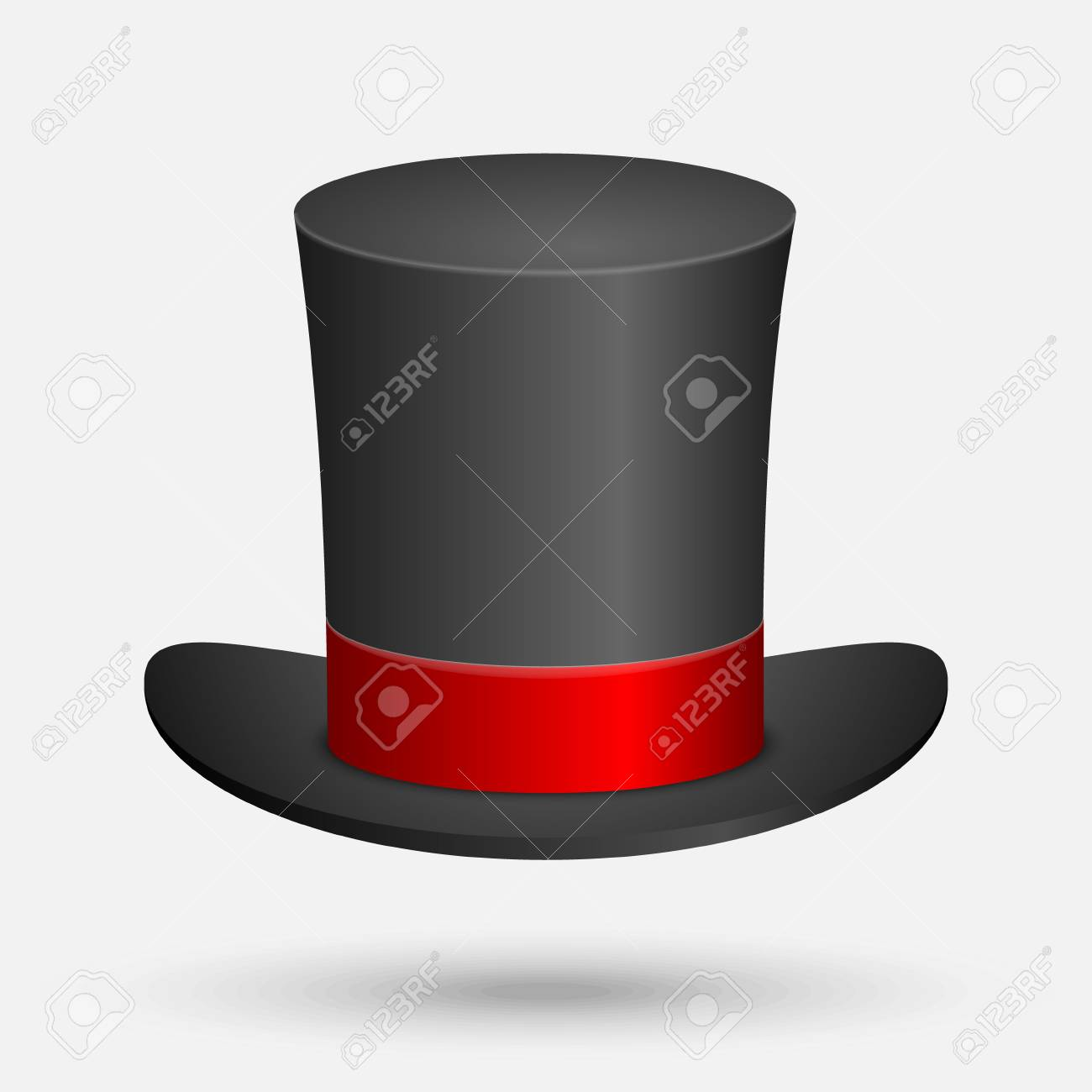 ad2f3f064 Black Top Hat vector illustration isolated on white background