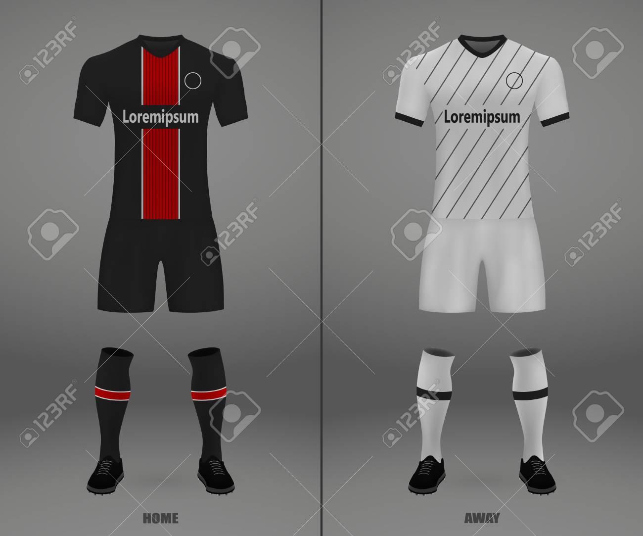 football kit Bayer Leverkusen 2018-19, shirt template for soccer