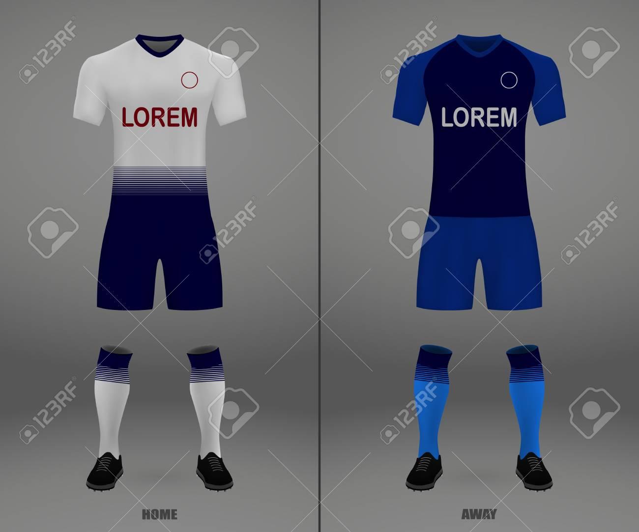 factory price 70f87 6a272 football kit Tottenham Hotspur 2018-19, shirt template for soccer..