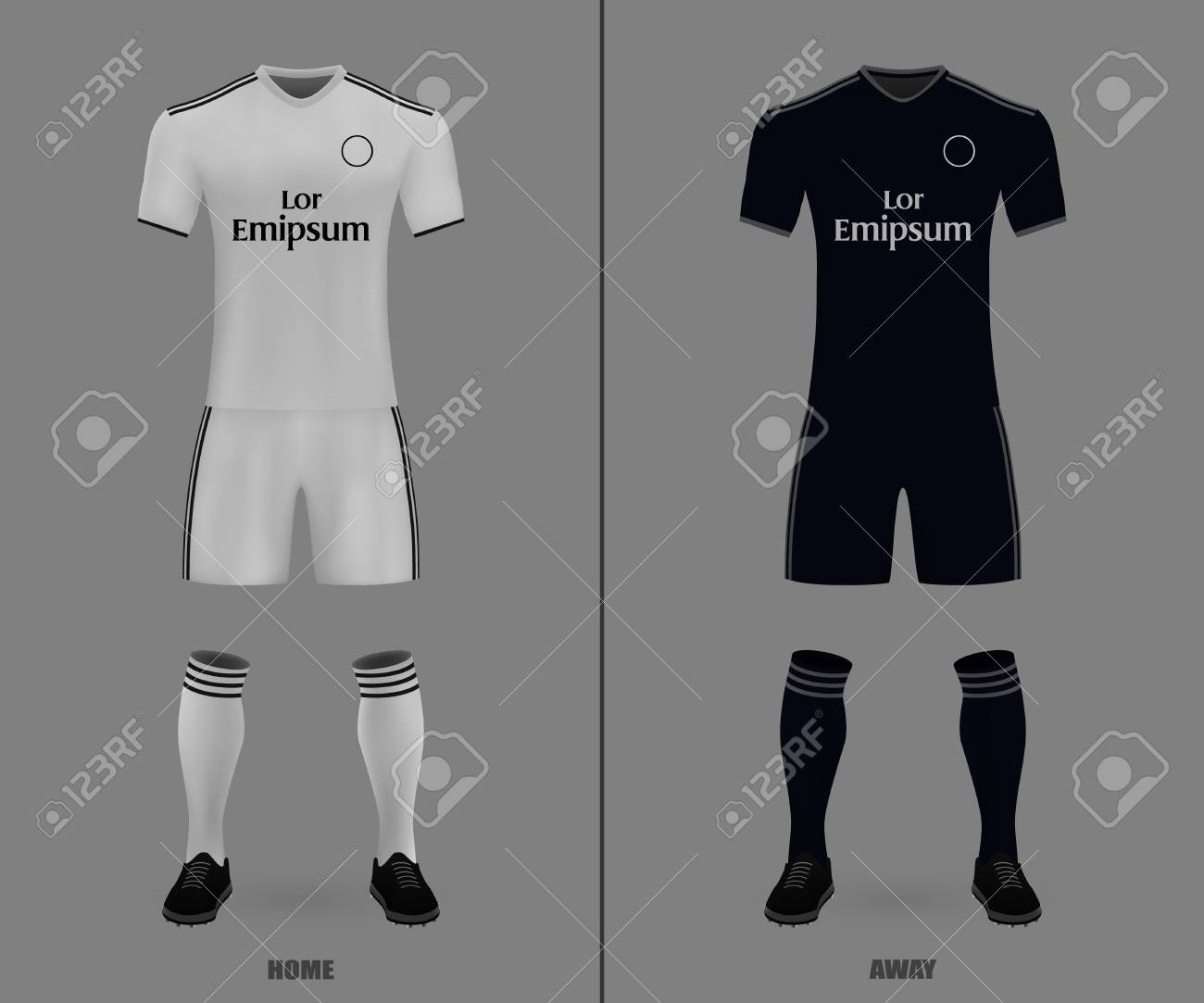 on sale a2d2f c24c3 football kit Real Madrid 2018-19, shirt template for soccer jersey...