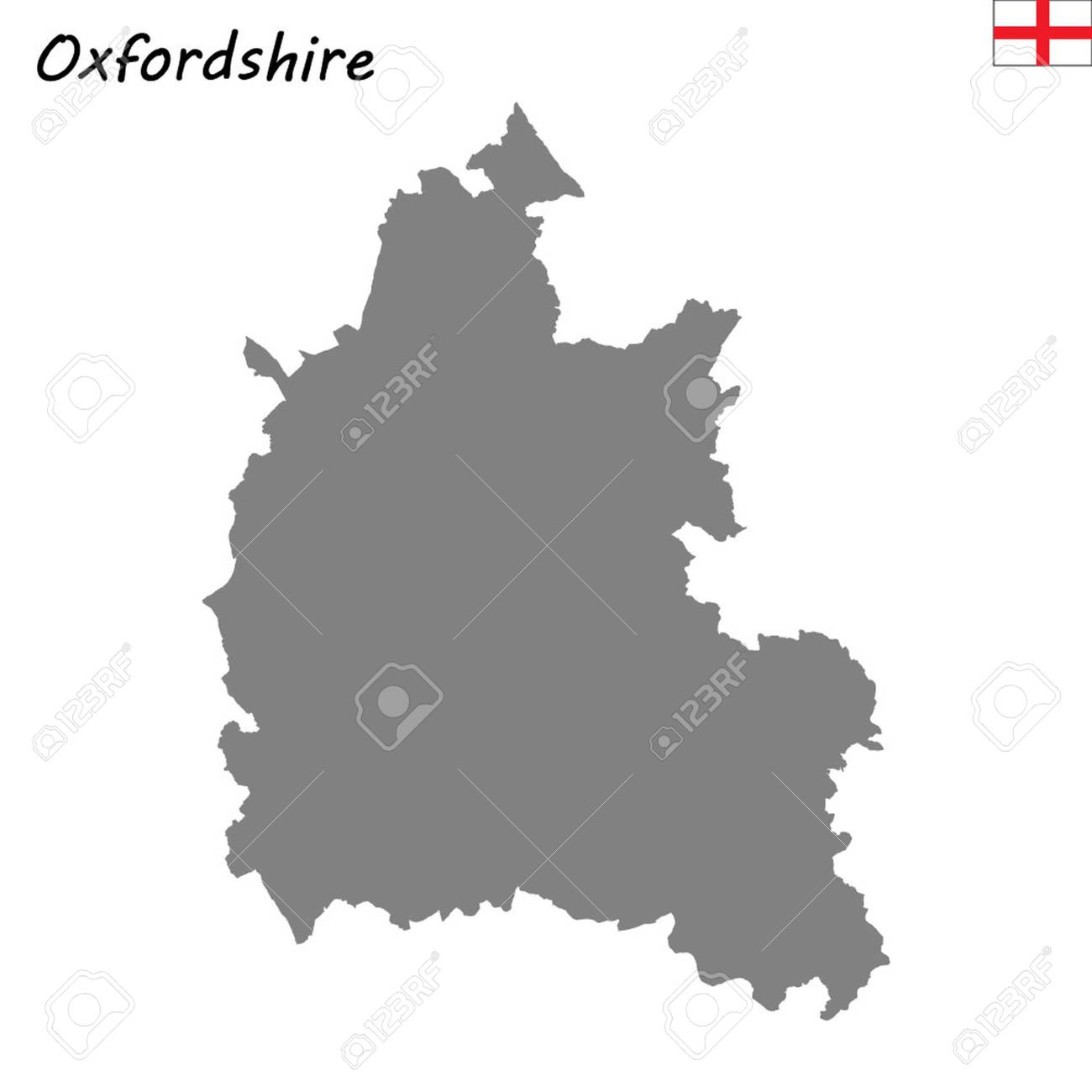 High Quality Map Is A Ceremonial County Of England Oxfordshire