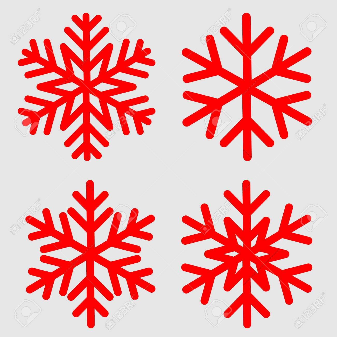 Snowflake Template | Vector Illustration Of Snowflake Template For Winter Holiday Cards