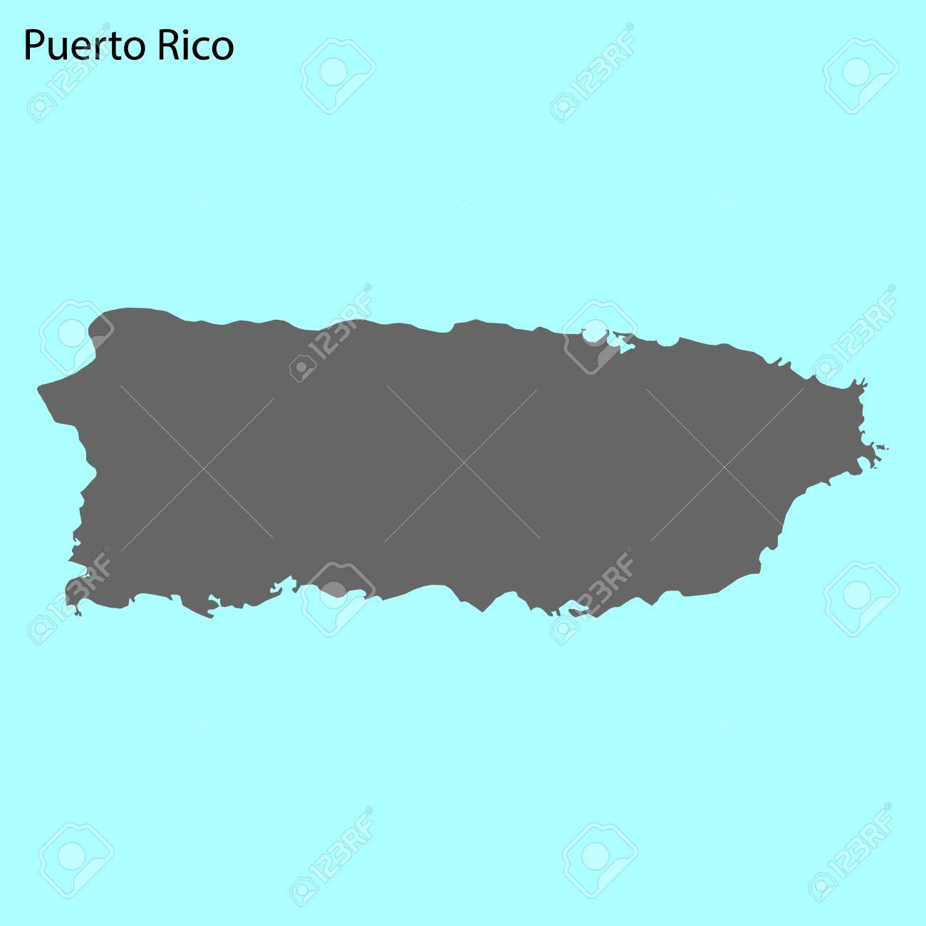 High quality map of Puerto Rico is the island of United States