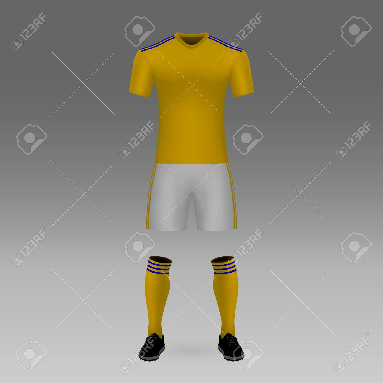 sale retailer a6be3 80683 football kit UANL Tigres shirt template for soccer jersey. Vector..