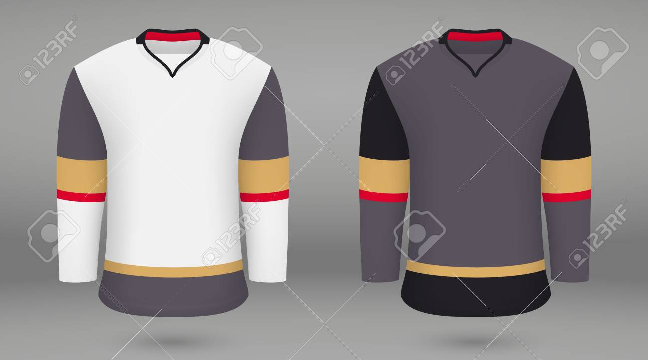 huge selection of c6a77 9c502 Realistic hockey kit, shirt template for ice hockey jersey. Vegas..