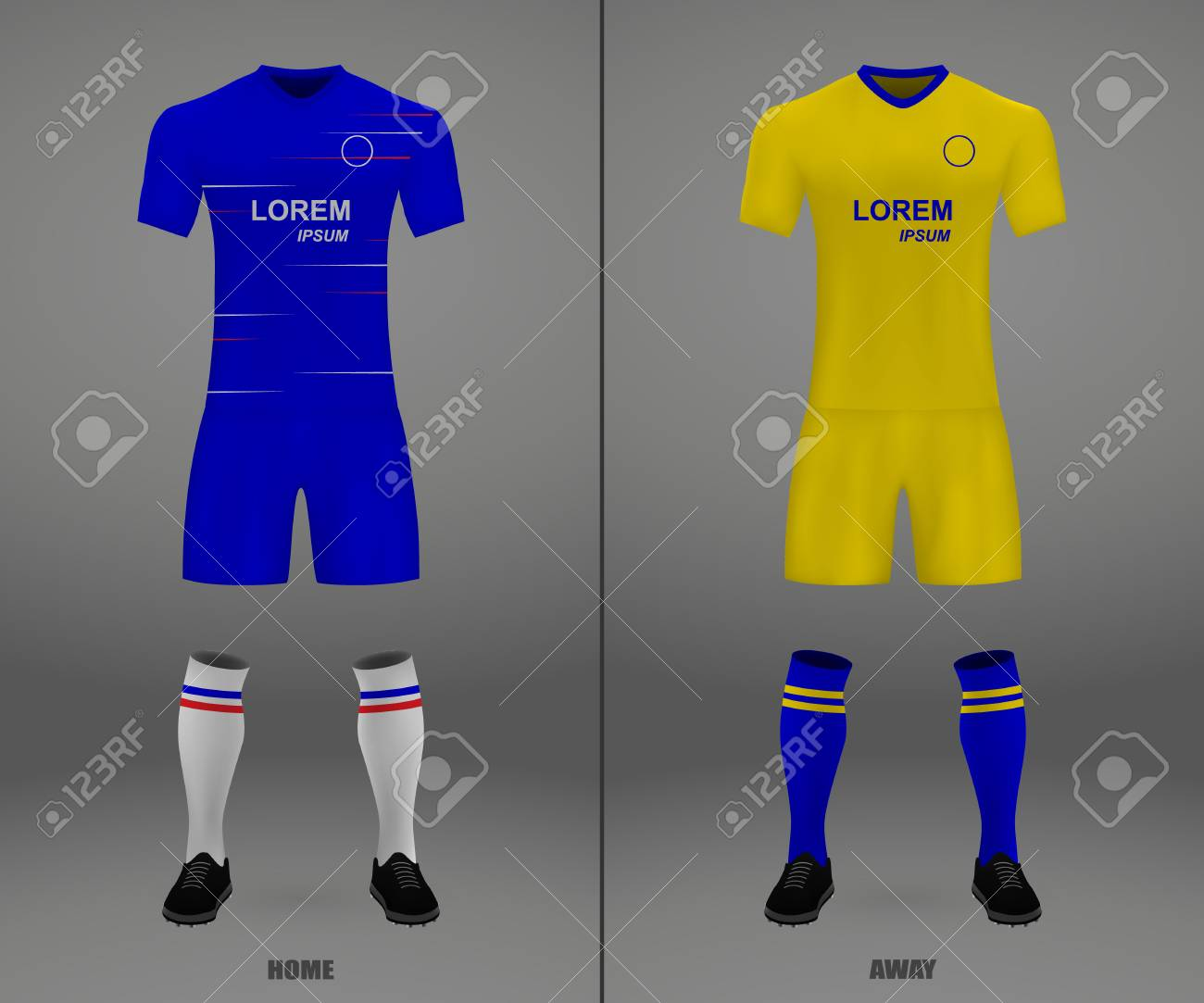 Football Kit Chelsea 2018 19 Shirt Template For Soccer Jersey Royalty Free Cliparts Vectors And Stock Illustration Image 125252120