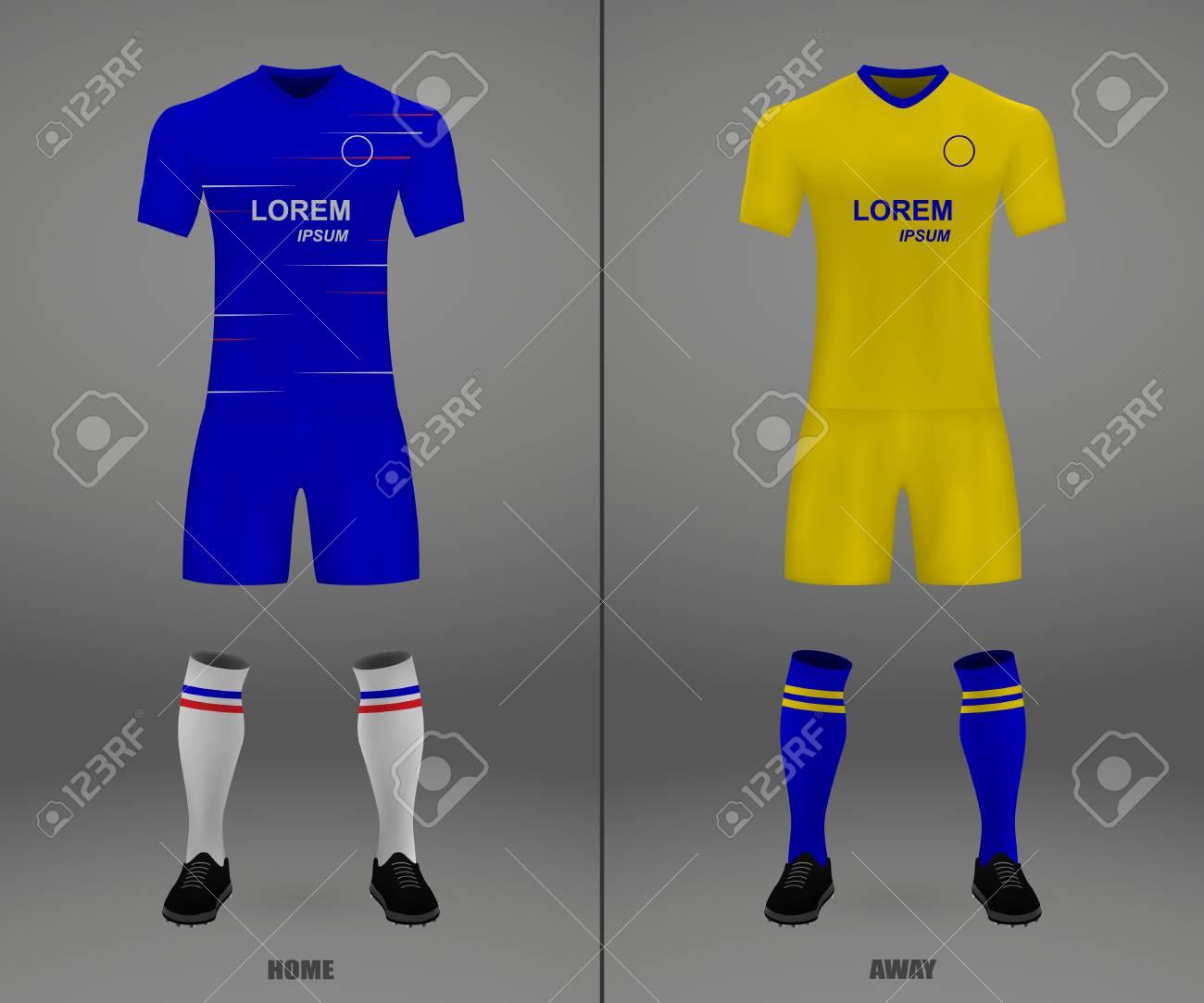 sale retailer 78e35 a1c3f football kit Chelsea 2018-19, shirt template for soccer jersey...