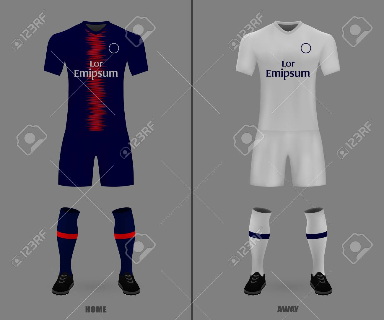 the best attitude 1a6b0 f033f football kit PSG 2018-19, shirt template for soccer jersey. Vector..