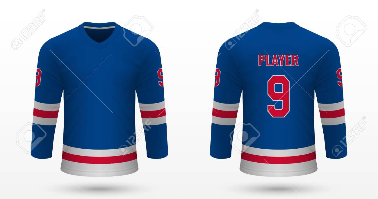 best website b8946 9857e Realistic sport shirt New York Rangers, jersey template for ice..