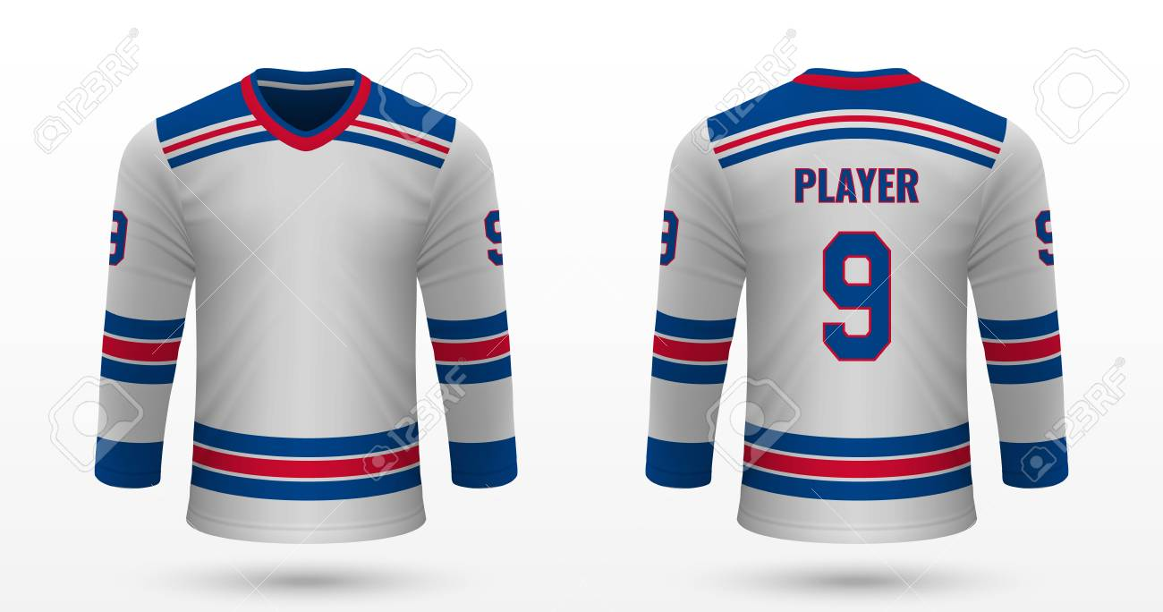 best website da650 d8cb3 Realistic sport shirt New York Rangers, jersey template for ice..