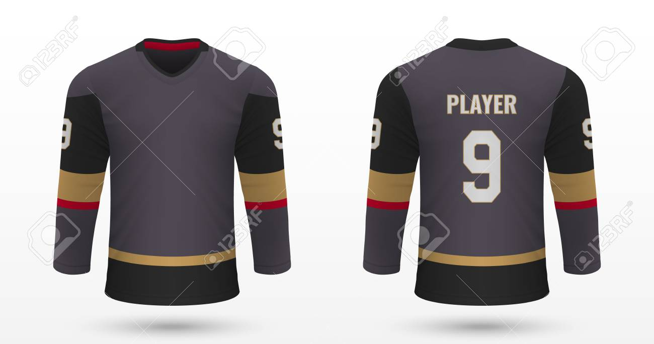 new arrivals f1f36 9d17d Realistic sport shirt Vegas Golden Knights, jersey template for..