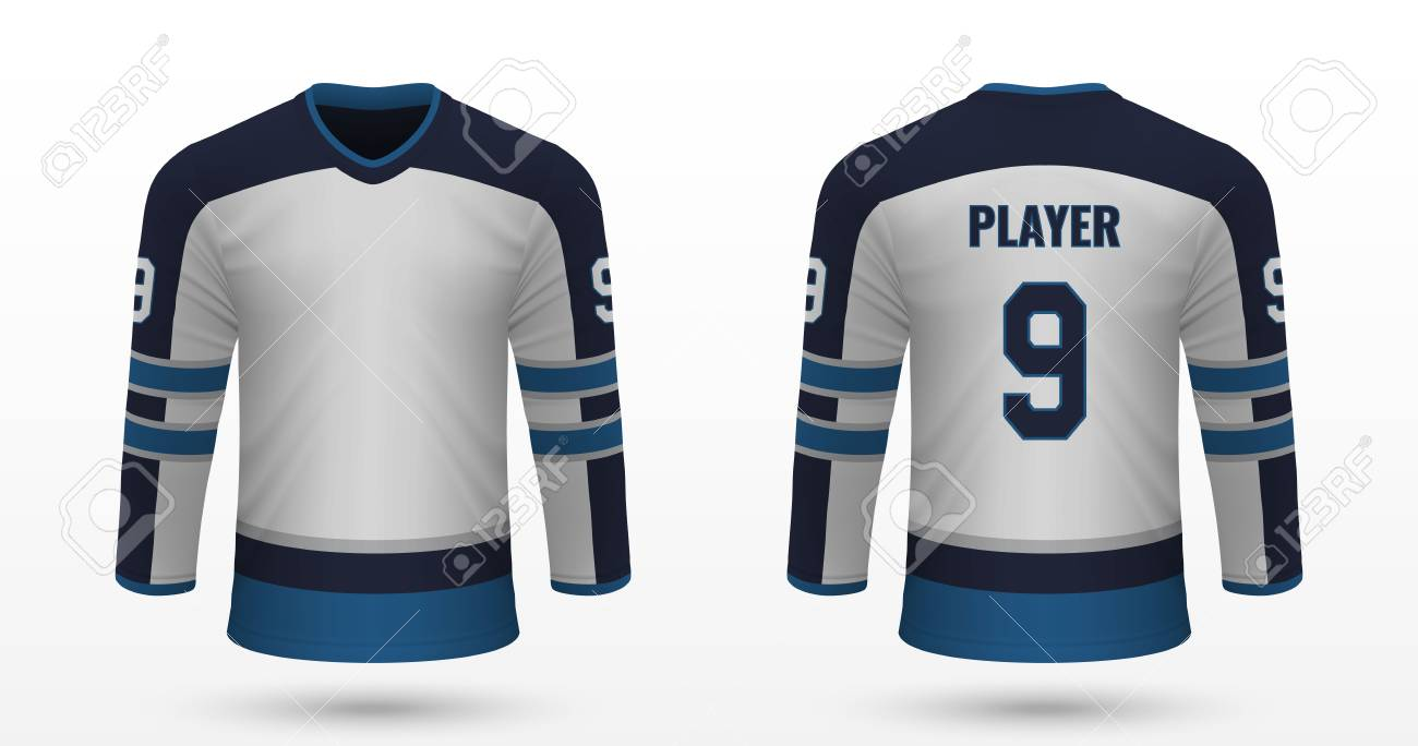 sneakers for cheap 7a38d ce8ac Realistic sport shirt Winnipeg Jets, jersey template for ice..