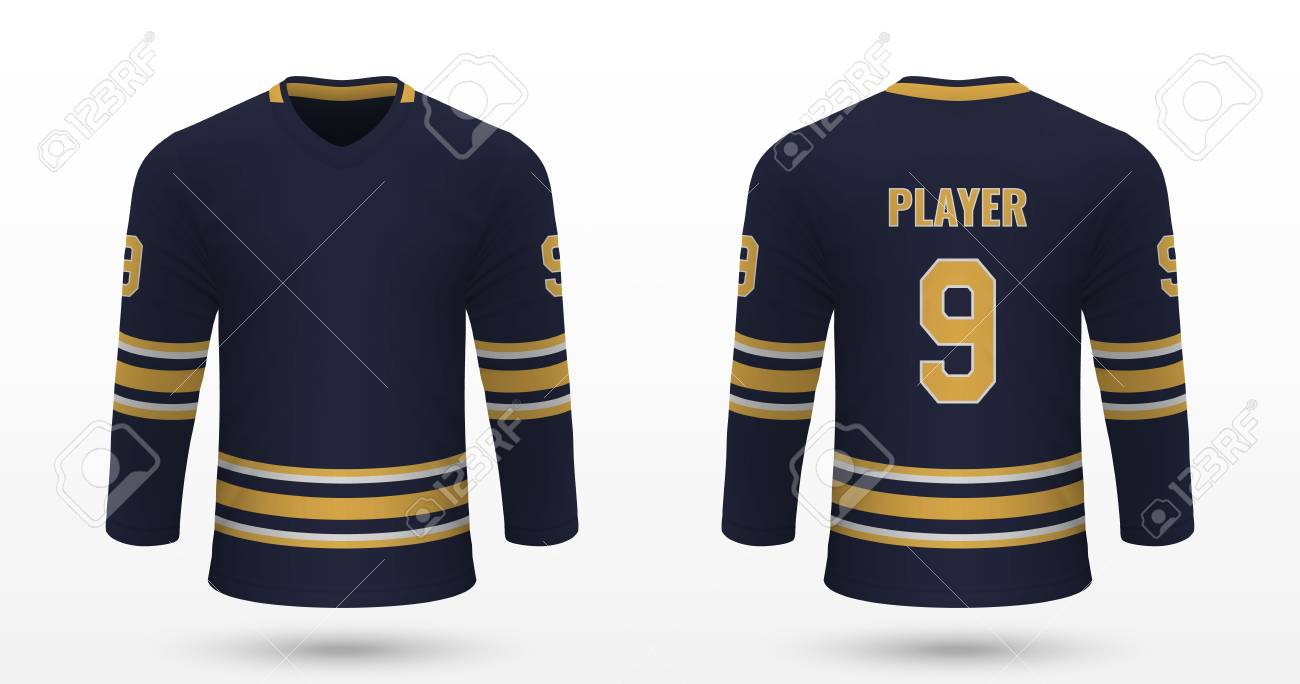 reputable site 22ab4 328e0 Realistic sport shirt Buffalo Sabres, jersey template for ice..