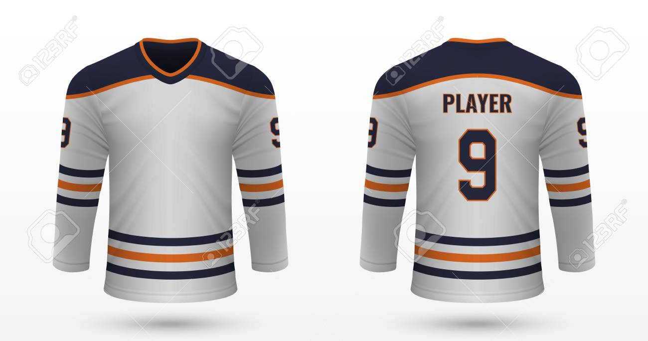 quality design a8c2e b73b6 Realistic sport shirt Edmonton Oilers, jersey template for ice..