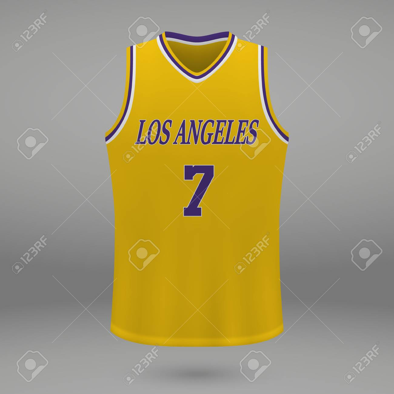 official photos 49742 4c003 Realistic sport shirt Los Angeles Lakers, jersey template for..