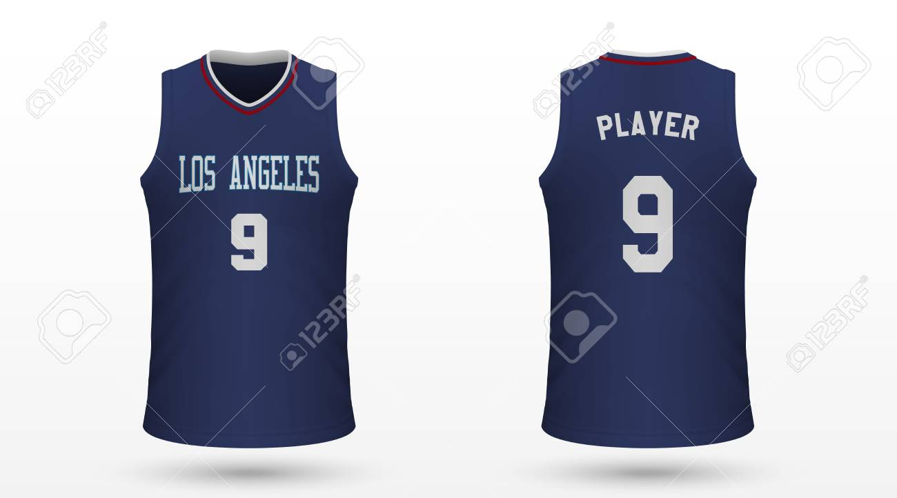info for d516d f0cf1 Realistic sport shirt Los Angeles Clippers, jersey template for..