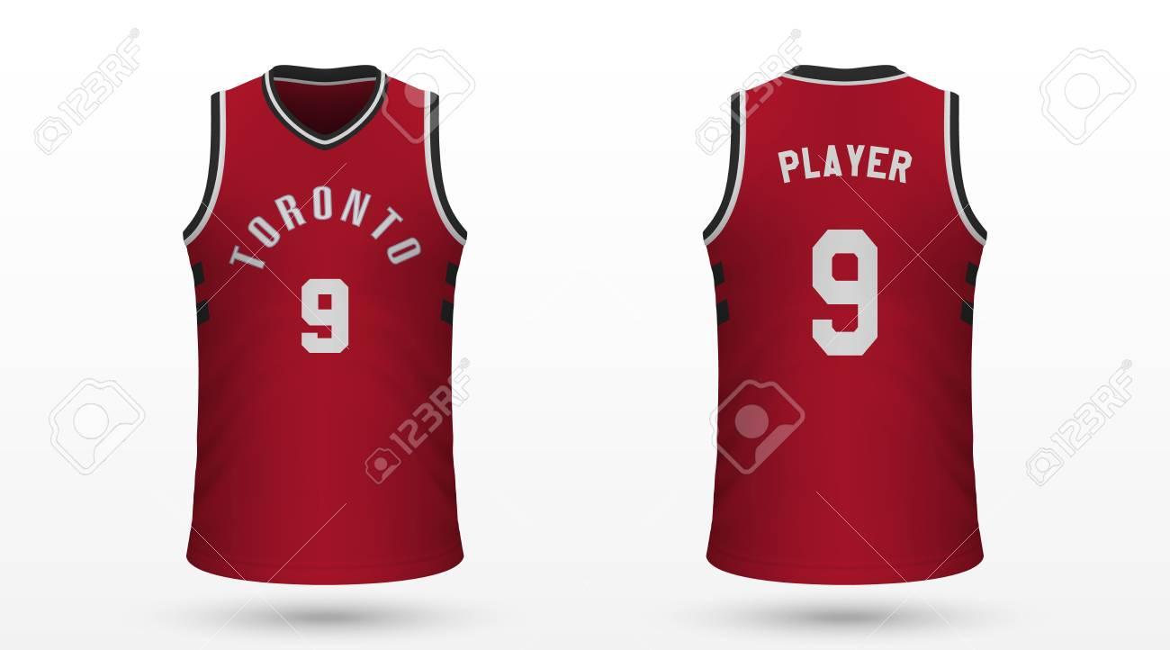 quality design 4487a fd682 Realistic sport shirt Toronto Raptors, jersey template for basketball..