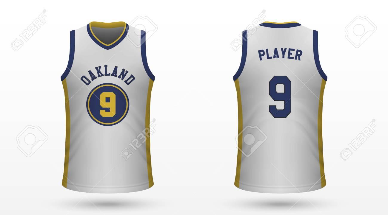 huge discount ebbad da803 Realistic sport shirt Golden State Warriors, jersey template..