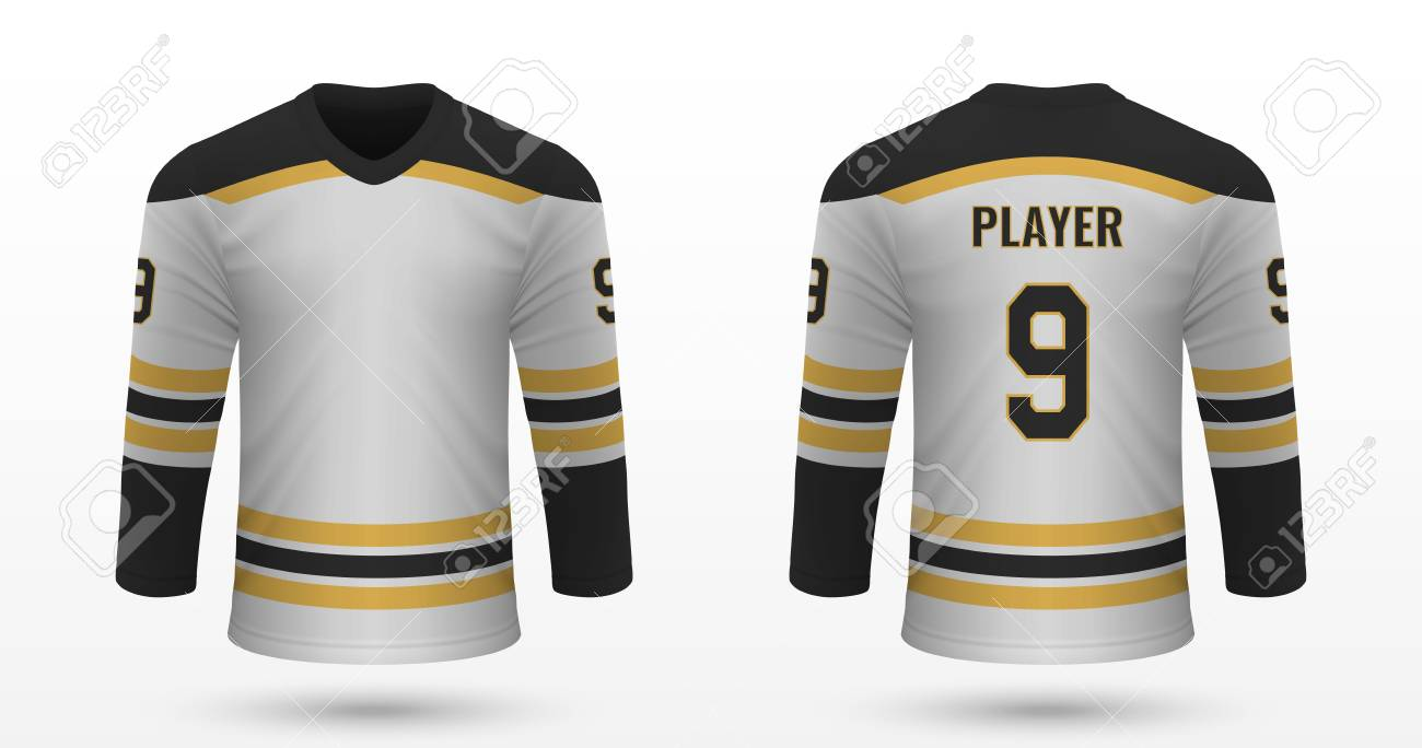 size 40 c8313 531b6 Realistic sport shirt Boston Bruins, jersey template for ice..