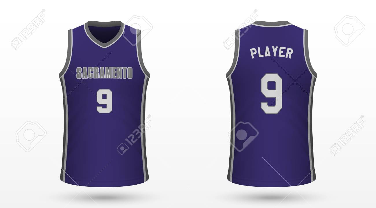 low priced fa8cb 9886c Realistic sport shirt Sacramento Kings, jersey template for basketball..