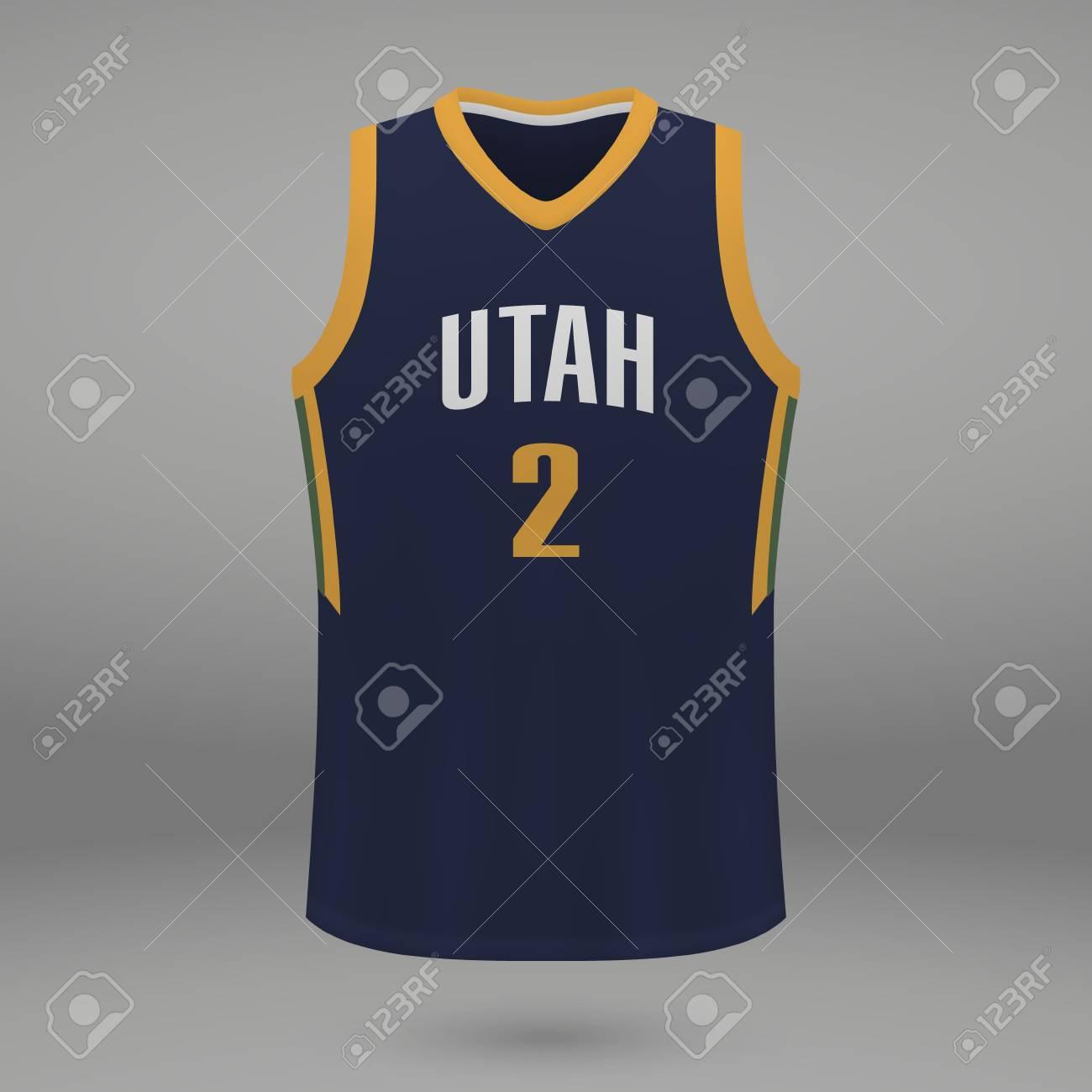 best loved 79150 e5396 Realistic sport shirt Utah Jazz, jersey template for basketball..