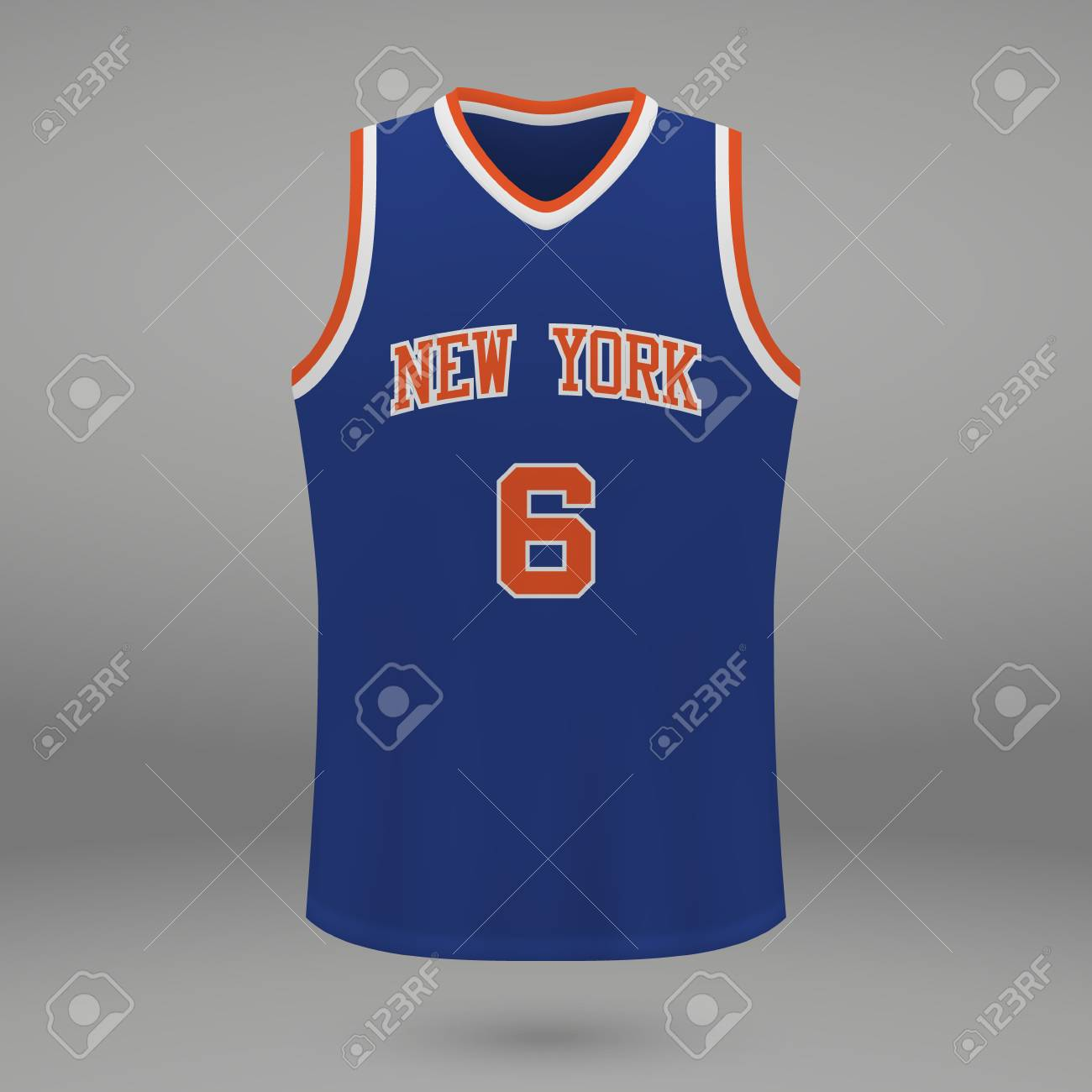 check out d4682 ef7ee Realistic sport shirt New York Knicks, jersey template for basketball..