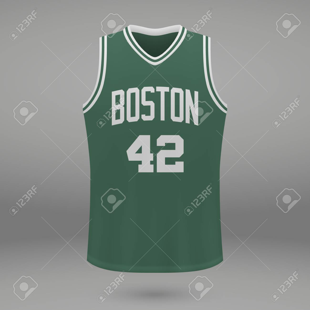 finest selection eeda1 c286b Realistic sport shirt Boston Celtics, jersey template for basketball..