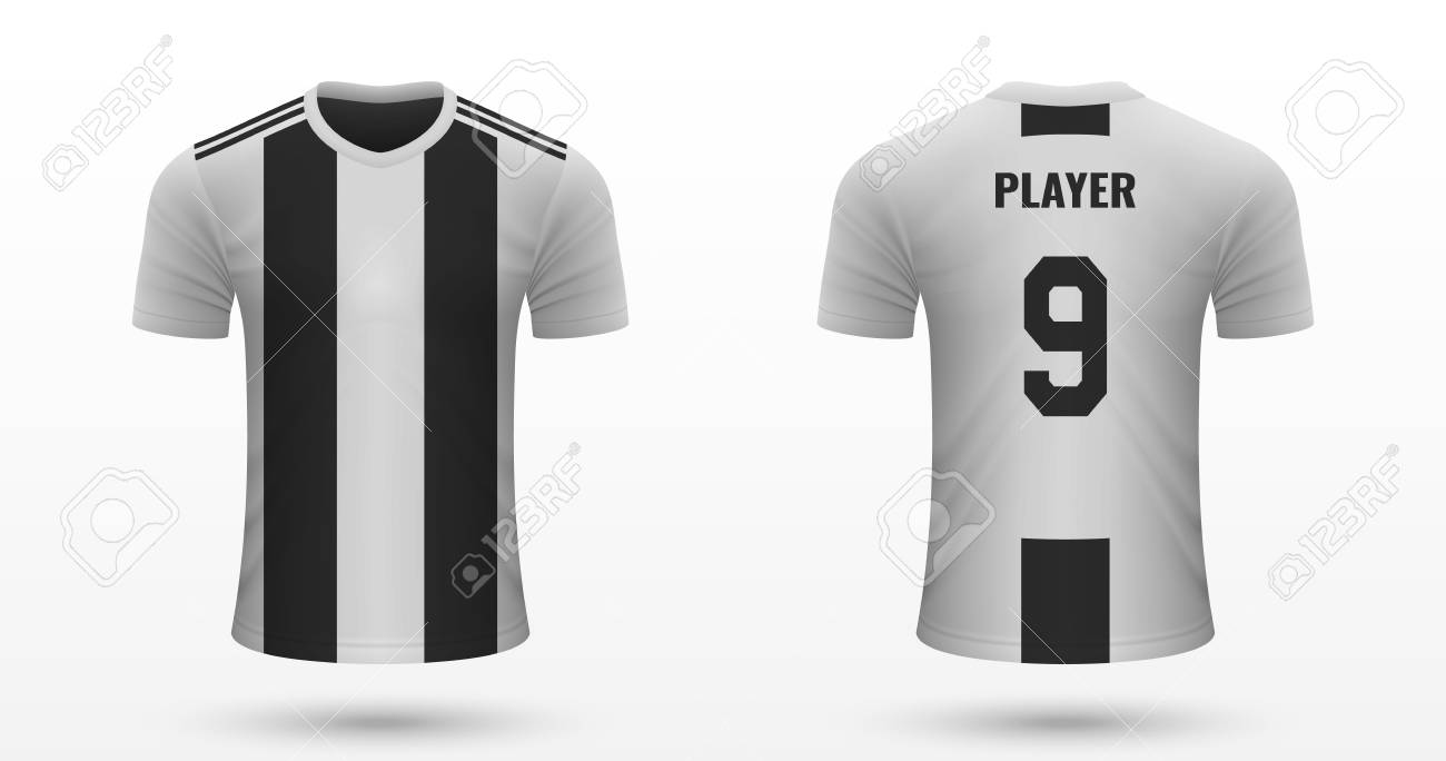 low priced cbc8e c5a59 Realistic soccer shirt Juventus, jersey template for football..